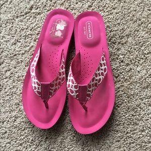 Pink Coach Flip- Flops